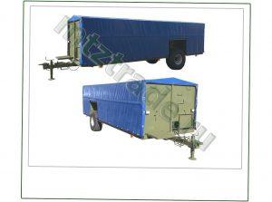 ППП-4 с тентом - полуприцеп для перевозки птицы