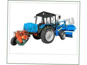 Уборочно погрузочная машина на базе трактора МТЗ 82