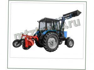 Универсальный трактор МТЗ 82 Беларусь с коммунальной щеткой