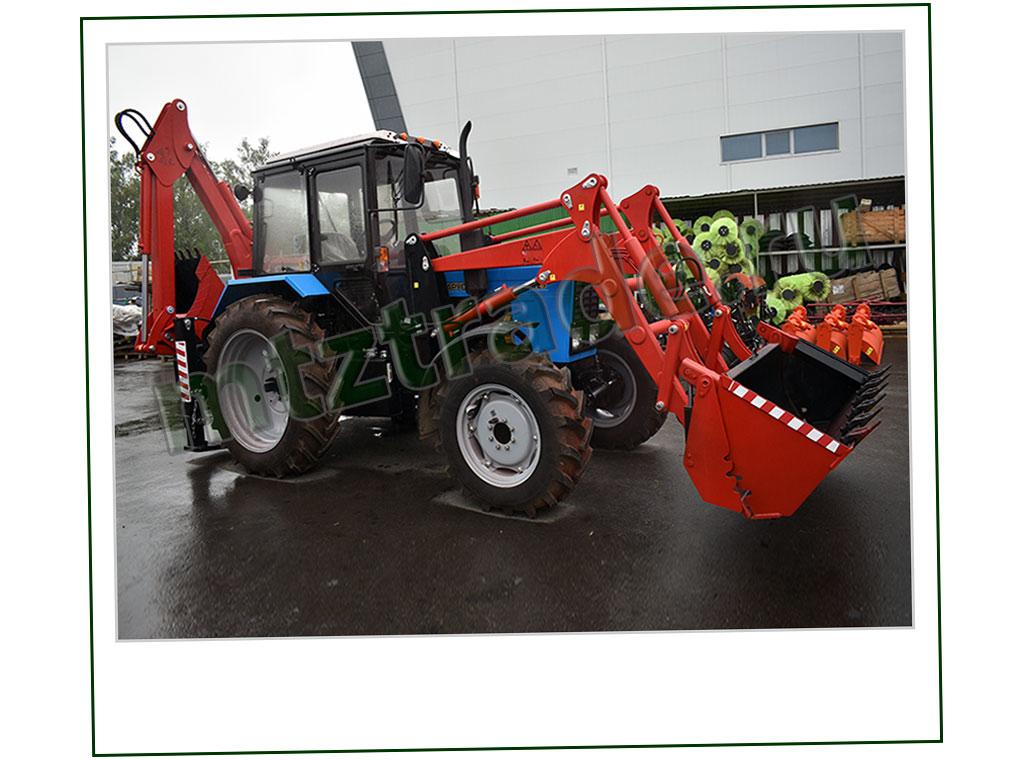 Экскаватор на базе трактора МТЗ 82 ЭО 2626-01 с погрузчиком ПФН -09 и челюстным ковшом
